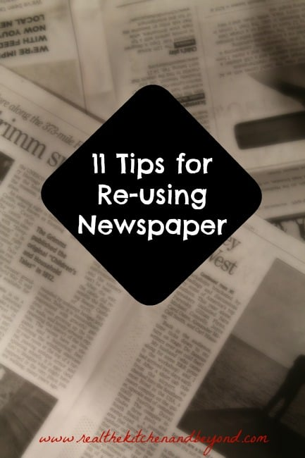 tips for re-using newspaper