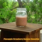 Pineapple, Strawberry, Banana Smoothies