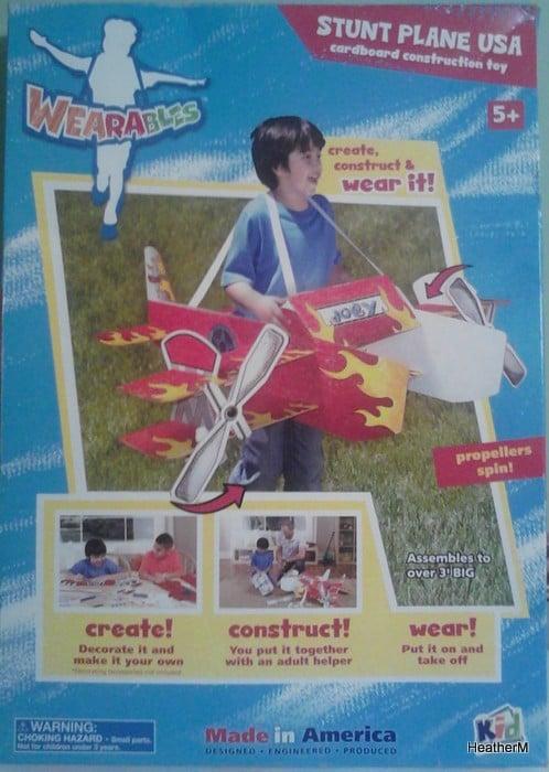 kids construction stunt plane