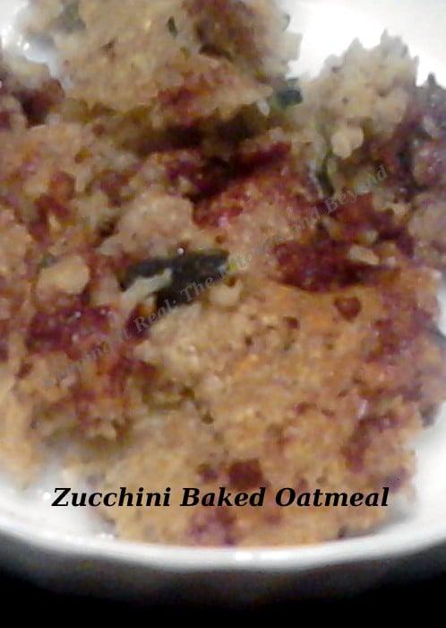 Baked Zucchini Oatmeal