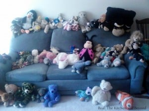 organizing stuffed animals