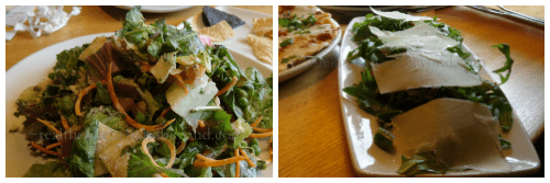 California Pizza Kitchen ~ mouthwatering salads ~ Aparagus and Arugula & Spring Market