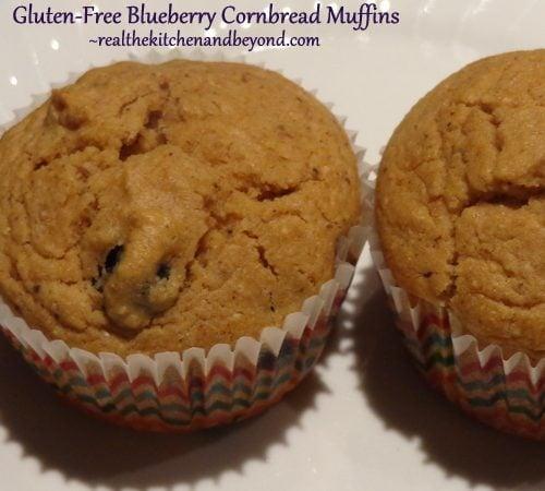 Gluten-Free Blueberry Cornbread Muffins