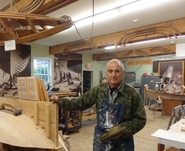 Tuckerton Seaport, home to a boathouse where carpenters work hard creating sneakboxes