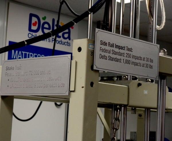 Delta Children puts all children's equipment through a grueling test to ensure safety