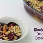 Blueberry Peach Dessert {Monkfruit in The Raw}