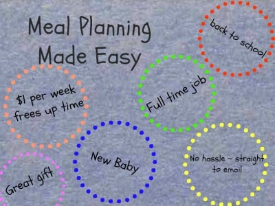 emeals ideas