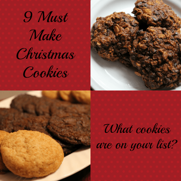 9 must make christmas cookies #pinterestfoodie