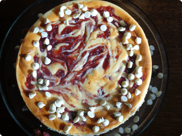 juniors white chocolate cranberry cheesecake recipe #dessert