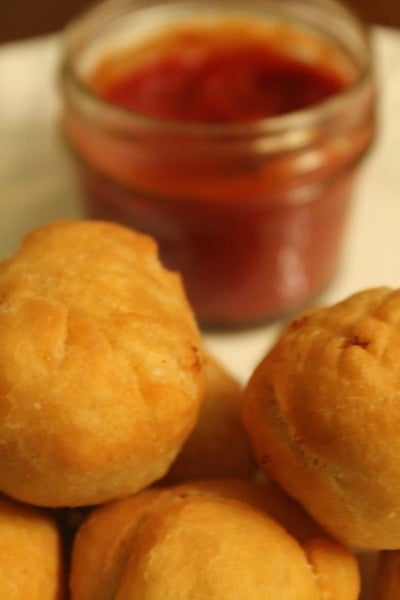 Fried Dough Mozzarella Bites #recipe