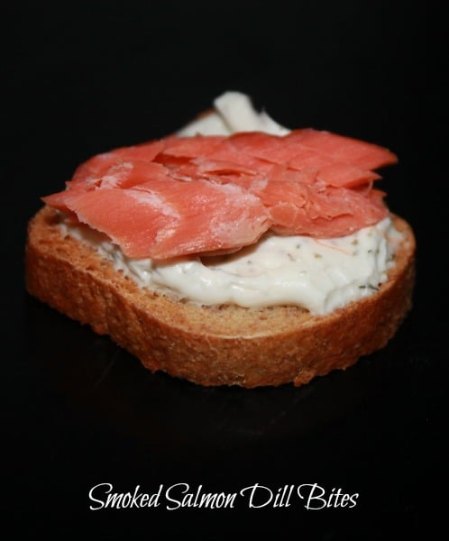 Smoked Salmon Dill Bites, an easy gourmet appetizer