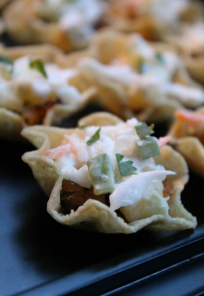 Spicy Fish Taco Cups