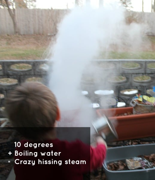 homeschool cold temp experiments