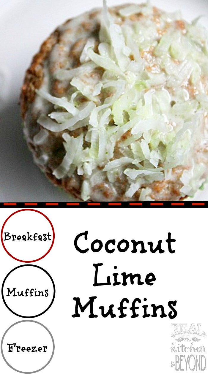 Coconut Lime Muffins | www.realthekitchenandbeyond.com