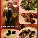 In House Date Night Menu