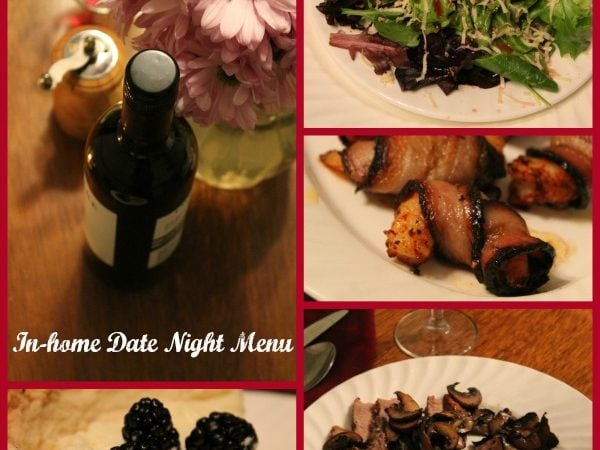 In House Date Night Menu