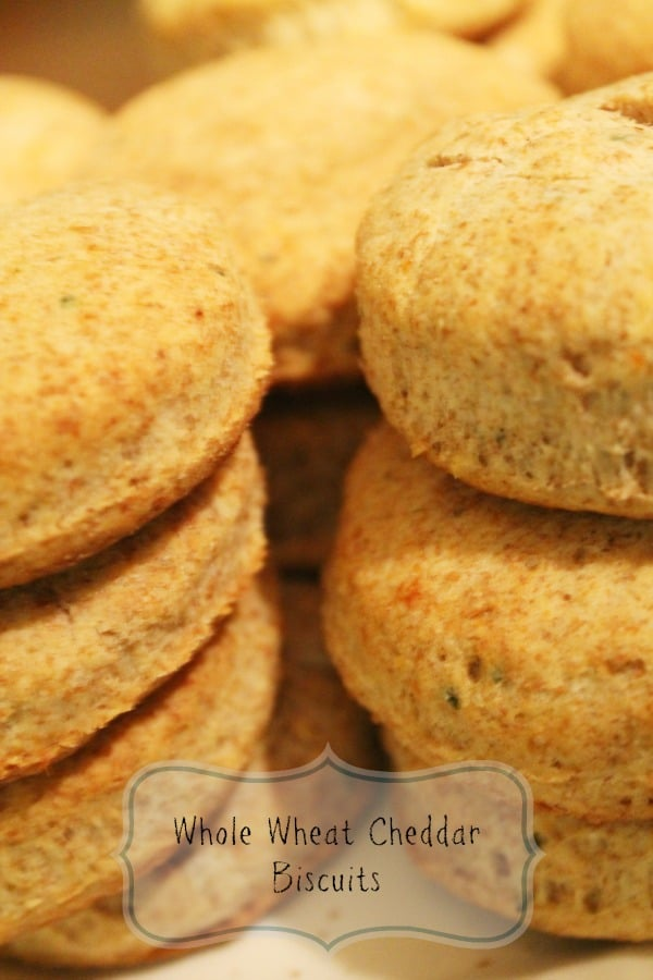 Whole Wheat Cheddar Biscuits