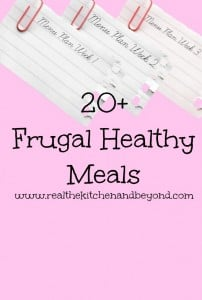 20 frugal healthy meals