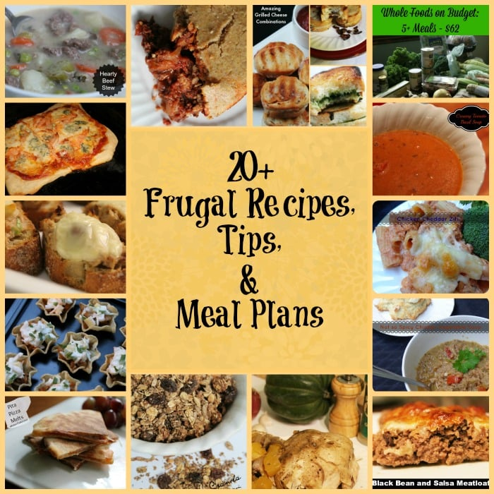 20+ frugal recipes, tips, and meal plans | www.realthekitchenandbeyond.com