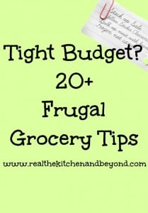 20 frugal tips for healthy meals