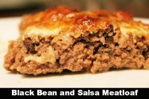 Black Bean and Salsa Meatloaf
