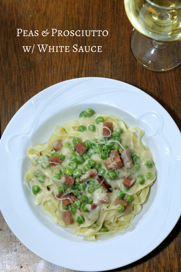 Peas & Prosciutto with White Sauce Recipe 2