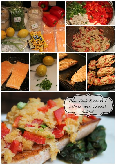 Blue Crab Encrusted Salmon
