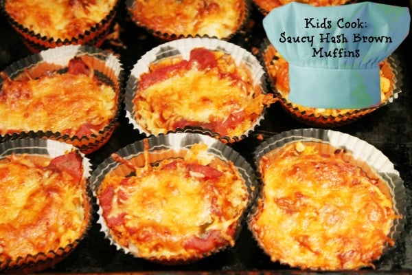 Kids Cook: Saucy Hash Brown Muffins