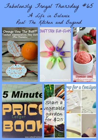 Fabulously Frugal Linky 65 featured posts