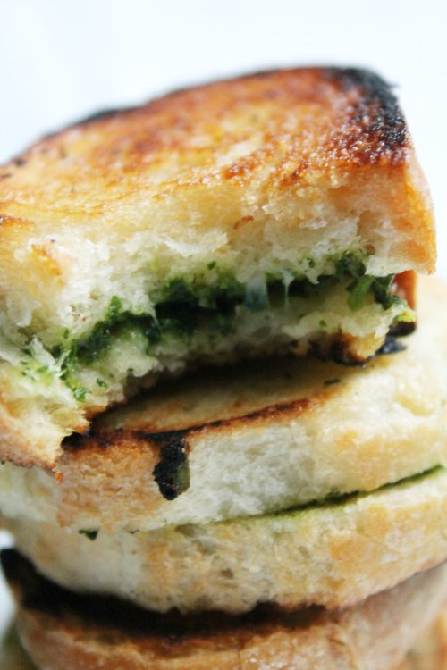 Kale Pesto and 6 Cheese Grilled Cheese