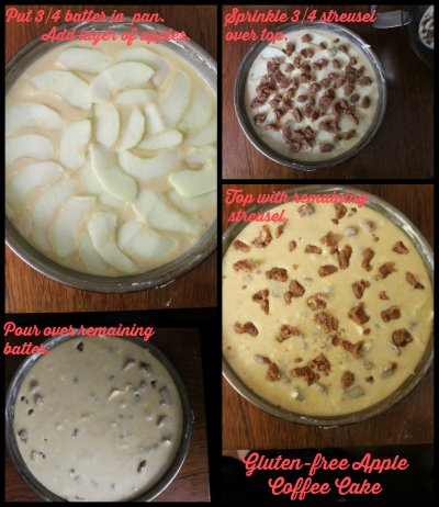 Steps for Gluten free apple coffee cake