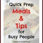 In a Hurry Quick Prep Meals