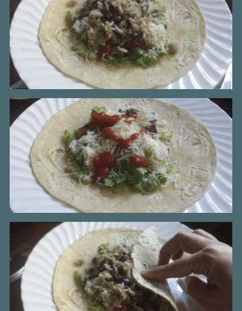 Quick and Easy Bean Burritos