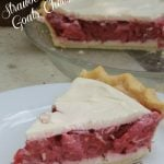 Strawberry Rhubarb Goat's Cheese Pie