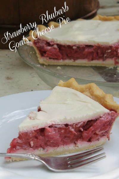 Strawberry Rhubarb Goat's Cheese Pie