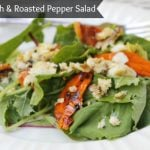 White Fish & Roasted Peppers Spring Green Salad