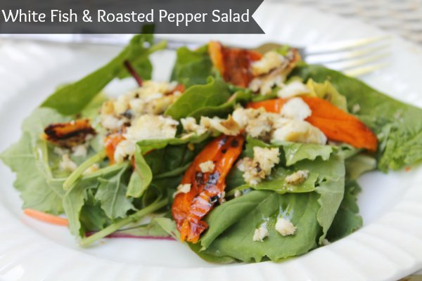 White Fish Roasted Pepper Salad