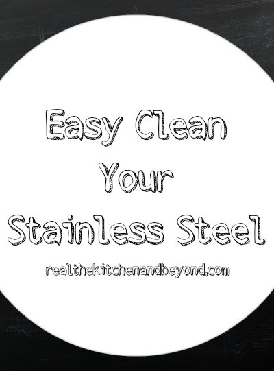 easy clean your stainless steel