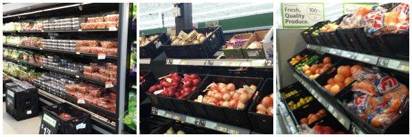 fresh produce aisles at walmart