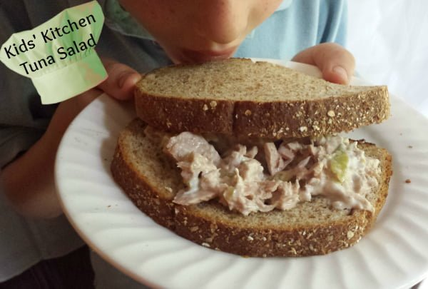 kids kitchen tuna salad sandwich