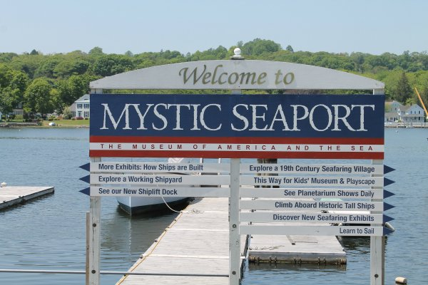 mystic seaport sign