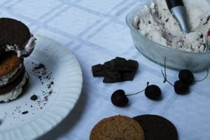 Chocolate Cherry Ice Cream Sandwich Ingredients