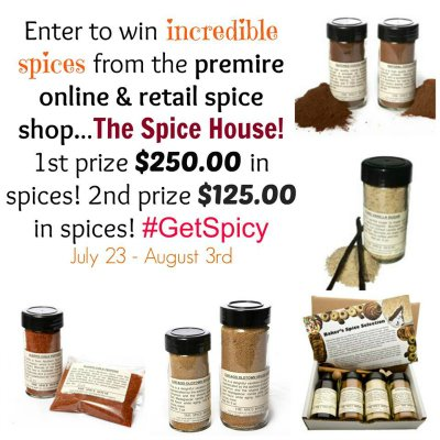 The Spice House Giveaway Prizes and pictures