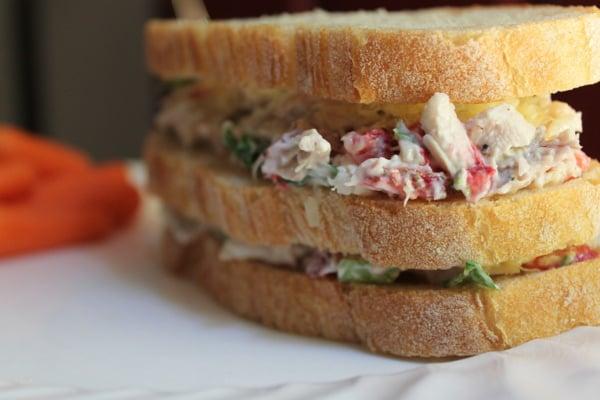 Strawberry Kale Chicken Salad Sandwich