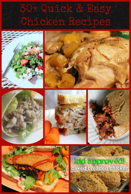 30 quick and easy chicken recipes