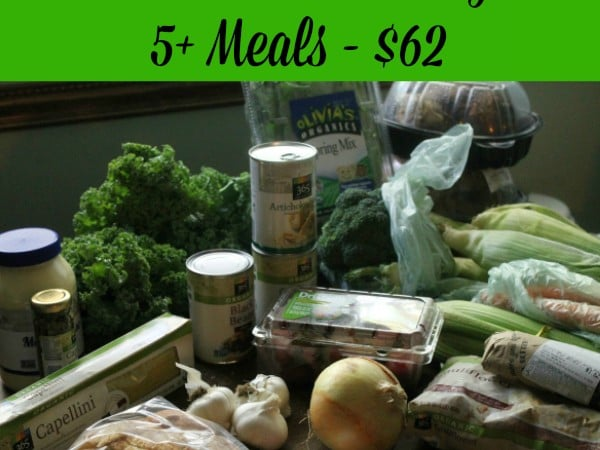 Whole Foods on a Budget - 5 meals for $62 - what it bought