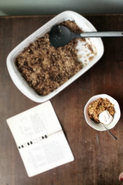 apple crisp and cookbook