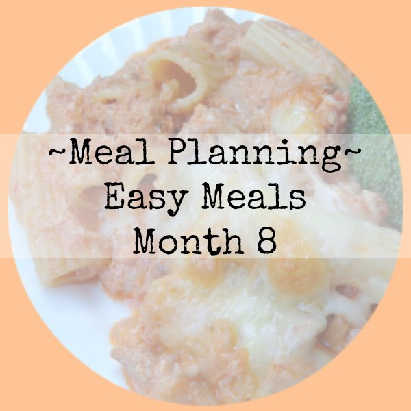 meal planning easy meals month 8 image
