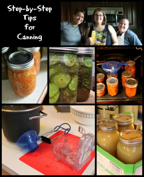 step by step tips for canning