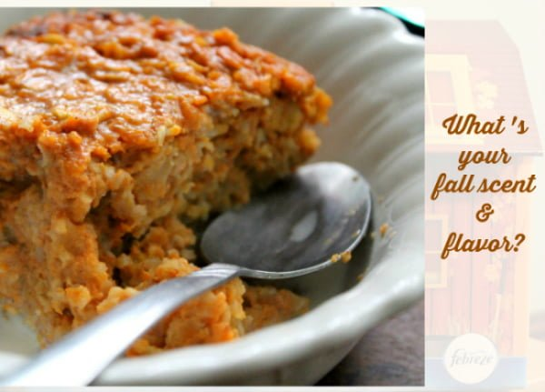 febreze scents and pumpkin pie baked oatmeal recipe
